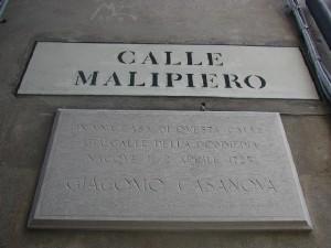 Casanova Targa commemorativa