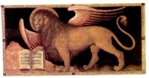 leone con il libro aperto
