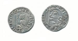 soldino Francesco Dandolo,1329-39-leone con vesillo