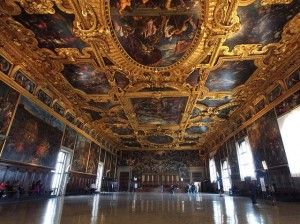 the hall of the full concil,venice,ducal palace