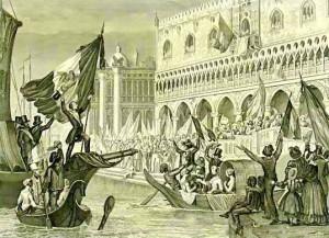 Sanesi-La proclamazione della Repubblica di San Marco,1848 - litografia -1850