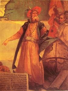 Giovanni Caboto- Giustino Menescardi 1762-pittura murale palazzo ducale