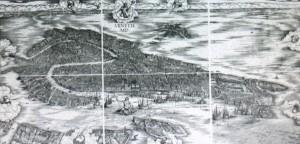 veduta prospettica di Venezia