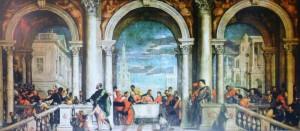 Veronese -cena a casa di Levi