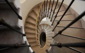 scala ovale del palazzo cini di San Vio